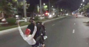 bốc đầu xe hàng trăm mét biểu diễn ở Cầu Rồng hai thanh niên bị khởi tố