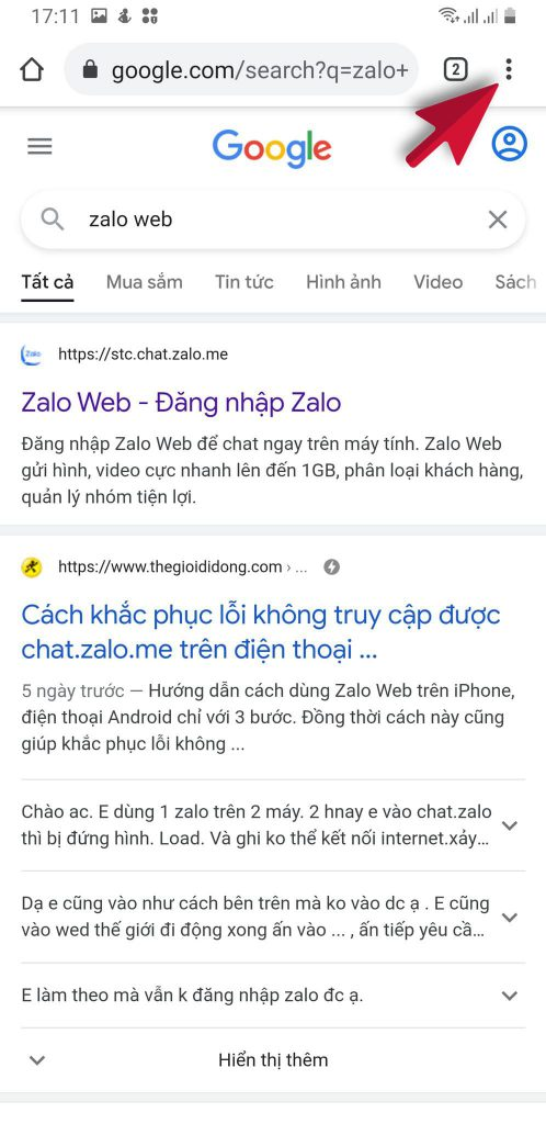 cách đăng nhập zalo web bằng điện thoại